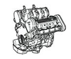 G04 MOTOR 2500, V6 BENZIN