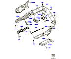 303-01/25 AUSPUFFKRÜMMER, 4.4L DOHC DIESEL V8 DITC (4.4L DOHC DITC V8 DIESEL 260PS) (VON (V)BA000001 )