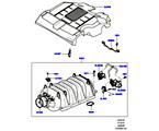 303-01/20B ANSAUGKRÜMMER, 5.0L OHC SGDI NA V8 PETROL (5.0L OHC SGDI SGM V8 BENZIN - AJ133)