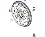 303-11/10B SCHWUNGSCHEIBE, 5.0L OHC SGDI SC V8 PETROL (5.0L OHC SGDI KPM V8 BENZIN - AJ133)