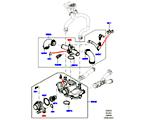 303-03/20B THERMOSTAT/GEHÄUSE UND ANBAUTEILE, 4.4L DOHC DIESEL V8 DITC (4.4L DOHC DITC V8 DIESEL 260PS)