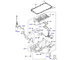 303-02/15B ÖLWANNE/ÖLMESSSTAB, 4.4L DOHC DIESEL V8 DITC (4.4L DOHC DITC V8 DIESEL 260PS)