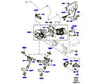 303-04/25C TURBOLADER, 4.4L DOHC DIESEL V8 DITC, LINKE SEITE - SEKUNDÄR (4.4L DOHC DITC V8 DIESEL 260PS)