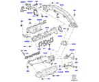 303-01/25B AUSPUFFKRÜMMER, 3.0 DIESEL 24V DOHC TC (3.0L 24 V DOHC V6 TC DIESEL, 3,0L V6 DIESEL-ELEKTRIK-HYBRIDMOTOR, 3.0 V6 D LOW MT ROW, 3.0 V6 D GEN2 MONO TURBO, 3.0L 24V V6 TURBO DIESEL STD FLOW)