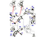303-03/20B THERMOSTAT/GEHÄUSE UND ANBAUTEILE, 5.0L OHC SGDI SC V8 PETROL (5.0L OHC SGDI KPM V8 BENZIN - AJ133)