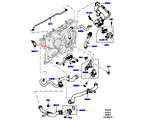 303-03/05D LEITUNGEN U. SCHLÄUCHE - KÜHLSYSTEM, 3.0 DIESEL 24V DOHC TC, MOTOR (3,0L V6 DIESEL-ELEKTRIK-HYBRIDMOTOR) (VON (V)FA000001 )