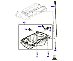 303-02/15B ÖLWANNE/ÖLMESSSTAB, 2.0 16V TURBO BENZINMOTOR (2.0L 16V TIVCT T/C 240PS PETROL) (VON (V)FA000001 )