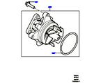 303-03/10B WASSERPUMPE, 2.0 16V TURBO BENZINMOTOR (2.0L 16V TIVCT T/C 240PS PETROL) (VON (V)FA000001 )