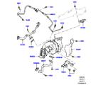 303-04/25E TURBOLADER, 3.0 DIESEL 24V DOHC TC, LINKE SEITE - PRIMÄR (3.0 V6 D GEN2 TWIN TURBO, 3.0 V6 D GEN2 TWIN TURBO) (VON (V)FA000001 )