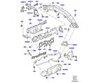 303-01/25C AUSPUFFKRÜMMER, 3.0 DIESEL 24V DOHC TC (3.0 V6 D GEN2 TWIN TURBO) (VON (V)FA000001 )