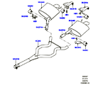 309-03/07C AUSPUFFANLAGE HINTEN, 3.0 DIESEL 24V DOHC TC (3.0L 24 V DOHC V6 TC DIESEL, EURO 4 ABGASNORM, STUFE V PLUS DPF, PROCONVE L6 EMISSIONEN, 3,0L V6 DIESEL-ELEKTRIK-HYBRIDMOTOR, 3.0L 24V V6 TURBO DIESEL STD FLOW)