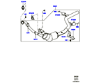 309-03/06D AUSPUFFANLAGE VORN, 3.0 DIESEL 24V DOHC TC (3,0L V6 DIESEL-ELEKTRIK-HYBRIDMOTOR, EURO 4 ABGASNORM, 3.0L 24V V6 TURBO DIESEL STD FLOW)