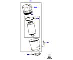 303-02/10A ÖLKÜHLER/ÖLFILTER, 5.0L OHC SGDI SC V8 PETROL, FILTER (5.0L OHC SGDI KPM V8 BENZIN - AJ133) (VON (V)AA000001 )