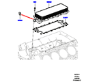 303-02/10B ÖLKÜHLER/ÖLFILTER, 5.0L OHC SGDI SC V8 PETROL, ÖLKÜHLER (5.0L OHC SGDI KPM V8 BENZIN - AJ133) (VON (V)AA000001 )