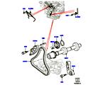 303-09/05C STIRNRADTRIEB, 5.0L OHC SGDI NA V8 PETROL, ZUSATZANTRIEB (5.0L OHC SGDI SGM V8 BENZIN - AJ133) (VON (V)AA000001 )