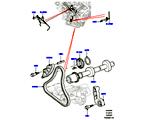 303-09/05C STIRNRADTRIEB, 5.0L OHC SGDI SC V8 PETROL, ZUSATZANTRIEB (5.0L OHC SGDI KPM V8 BENZIN - AJ133) (VON (V)AA000001 )
