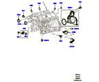 303-01/10 ZYL.BLOCK/VERSCHLUSSSTOPFEN/DECKEL, 3.0 DIESEL 24V DOHC TC (3.0L V6 DIESELMOTOR) (VON (V)AA000001 )