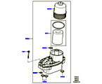 303-02/10A ÖLKÜHLER/ÖLFILTER, 3.0 DIESEL 24V DOHC TC (3.0L 24 V DOHC V6 TC DIESEL, 3,0L V6 DIESEL-ELEKTRIK-HYBRIDMOTOR, 3.0L 24V V6 TURBO DIESEL STD FLOW) (VON (V)AA000001 )